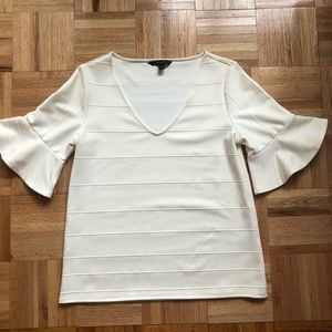 Banana Republic Ruffle Sleeve V Neck Top